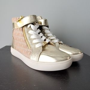 Micheal Kors sneakers, never been worn, gold, sz 7